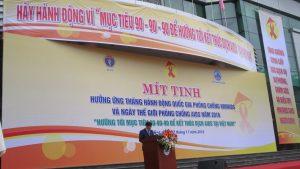 GS.TS Nguyễn Thanh Long, Thứ trưởng Bộ Y tế phát biểu chỉ đạo tại Mít tinh