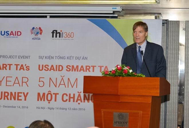 Giám đốc USAID Việt Nam Michael Greene phát biểu tại hội thảo tổng kết dự án SMART TA